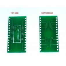 """SOP28 to DIP28 breakout board 2.54mm 0.1"""""""
