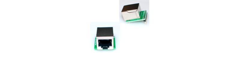 RJ45 LAN Socket Breakout Board breadboard